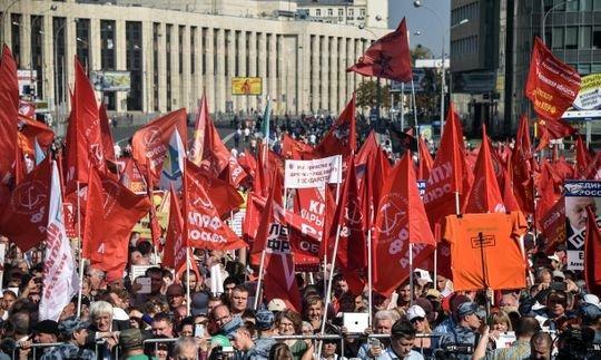 اعتراض هزاران نفر در مسکو به برنامه پوتین برای افزایش سن بازنشستگی