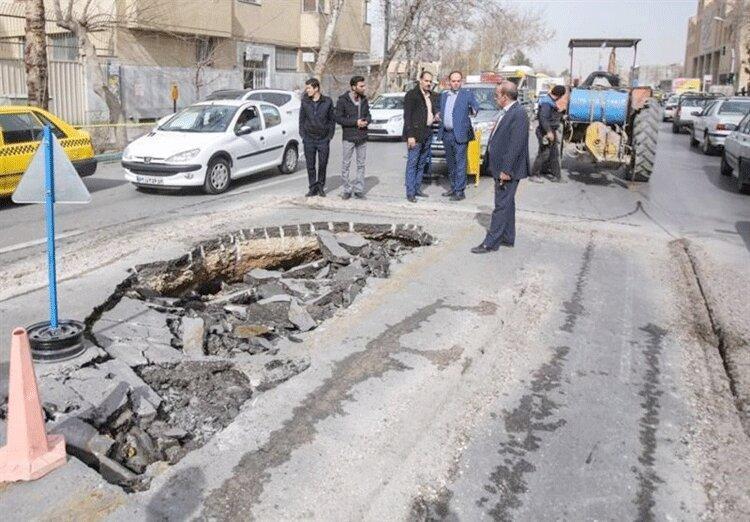 نشانه های فرونشست زمین در اصفهان