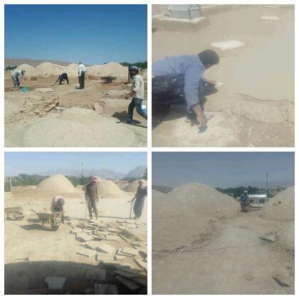 شروع مرمت مسجد باغ بهار در مهریز