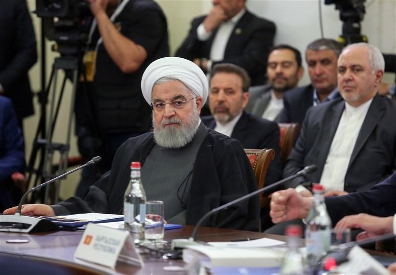روحانی در اتحادیه اوراسیا: جامعه بین المللی باید با اتخاذ تصمیم قاطع با رویکرد خصمانه آمریکا مقابله کند