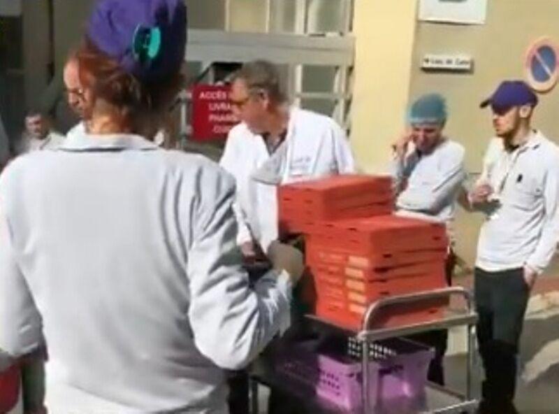 خبرنگاران کرونا در فرانسه؛ رستورانی که به مراقبان سلامت پیتزای رایگان می دهد