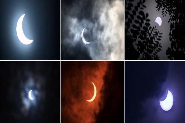 تصاویر خورشید گرفتگی حلقه آتش در آسیا و آفریقا