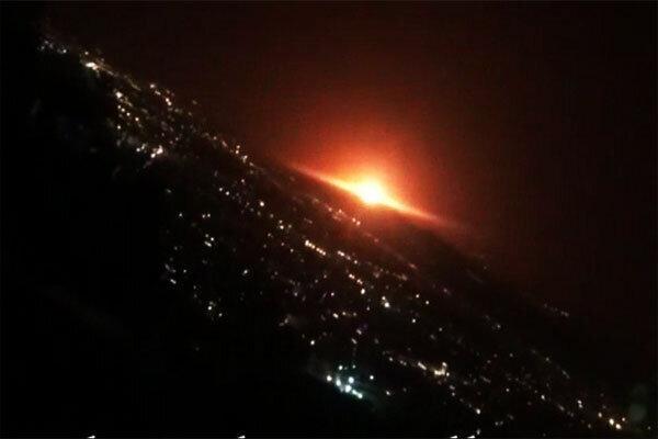 صدای مهیب در شرق تهران ، آسمان نارنجی شد