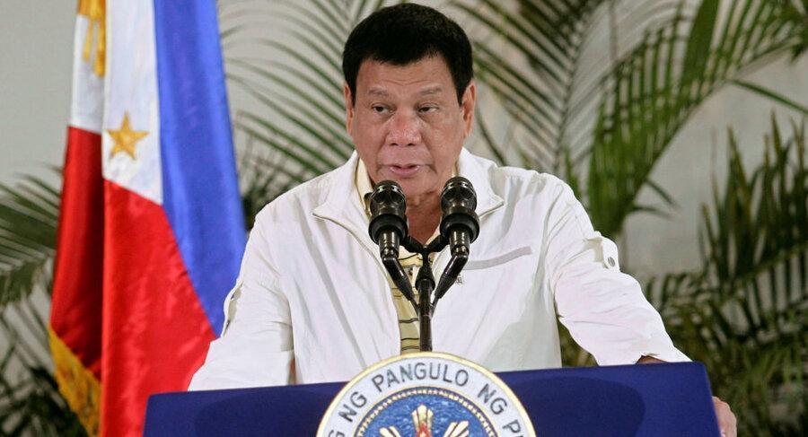 پیشنهاد عجیب رئیس جمهوری فیلیپین برای ضدعفونی کردن ماسک