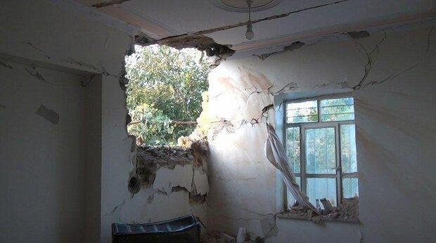 اصابت یک فروند موشک جنگ قره باغ به منزل مسکونی در خداآفرین