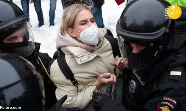 (تصاویر) سرکوب و بازداشت مخالفان پوتین
