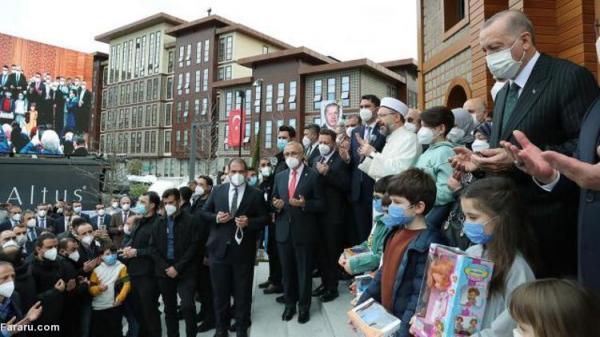 (عکس) اردوغان مسجد پدرش را در زادگاهش افتتاح کرد