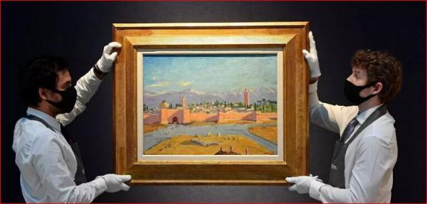 نقاشی چرچیل با عنوان مراکش در کریستیز لندن فروخته شد