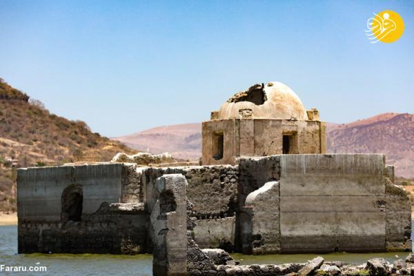 (تصاویر) کلیسای تاریخی بر اثر خشکسالی از زیر آب بیرون آمد