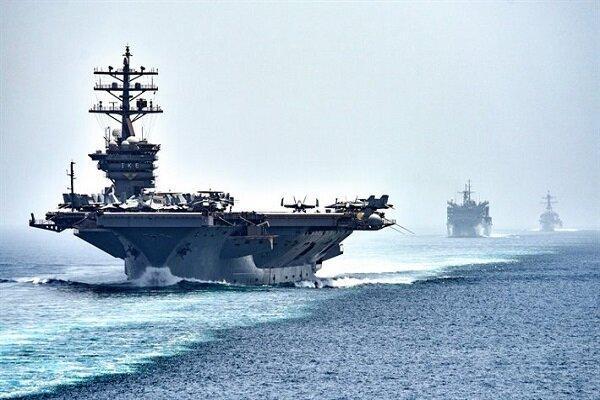 تعقیب ناو نظامی آمریکا به وسیله ارتش روسیه در دریای سیاه
